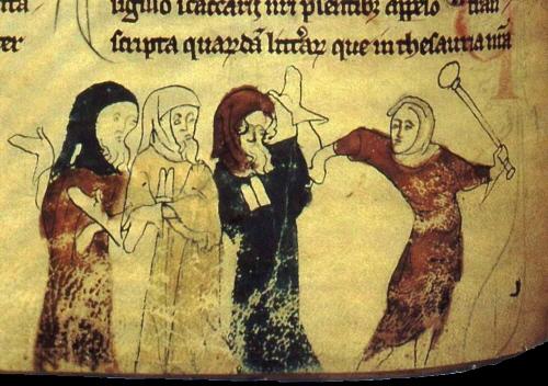 Jueria persecució manuscrit britànic del XIV